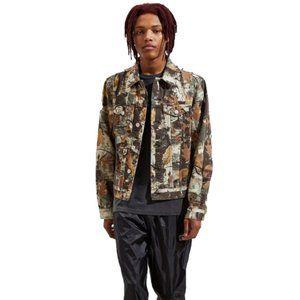BDG Urban Outfitters Camo Denim Trucker Jacket